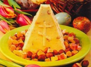 Пасхой называется и особое блюло из творога, которое готовится на праздник Светлого Воскресенья