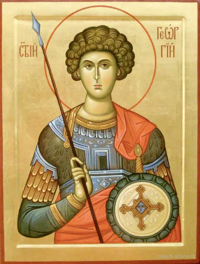 Молитву о помощи на работе читают Святому Георгию Победоносцу