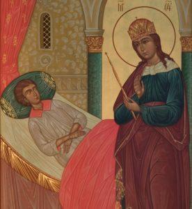 """О выздоровлении молятся перед Иконой Божьей Матери """"Целительница"""""""