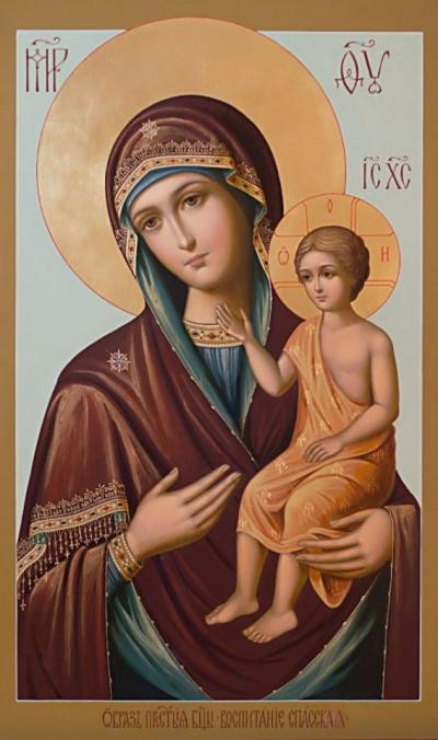 Молитва за детей о воспитании в вере и благочестии читается перед иконой Божьей Матери «Воспитание»
