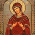 Икона Божией Матери Семистрельной