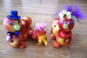Поделки на Яблочный Спас в детский сад своими руками