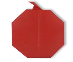 Поделка в садик на Яблочный Спас своими руками: яблоко в стиле оригами