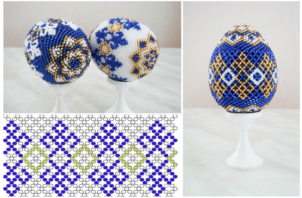 Яйца на пасху с плетением из бисера: пошаговые инструкции