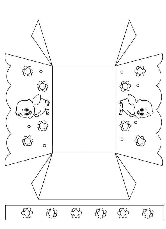 12 простых и оригинальных шаблонов для пасхальных корзинок
